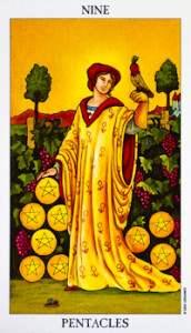 El Nueve de Oros en el Tarot