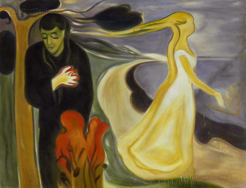 """Quitar el dolor de un corazón roto - """"La separación"""" de Edvard Munch"""